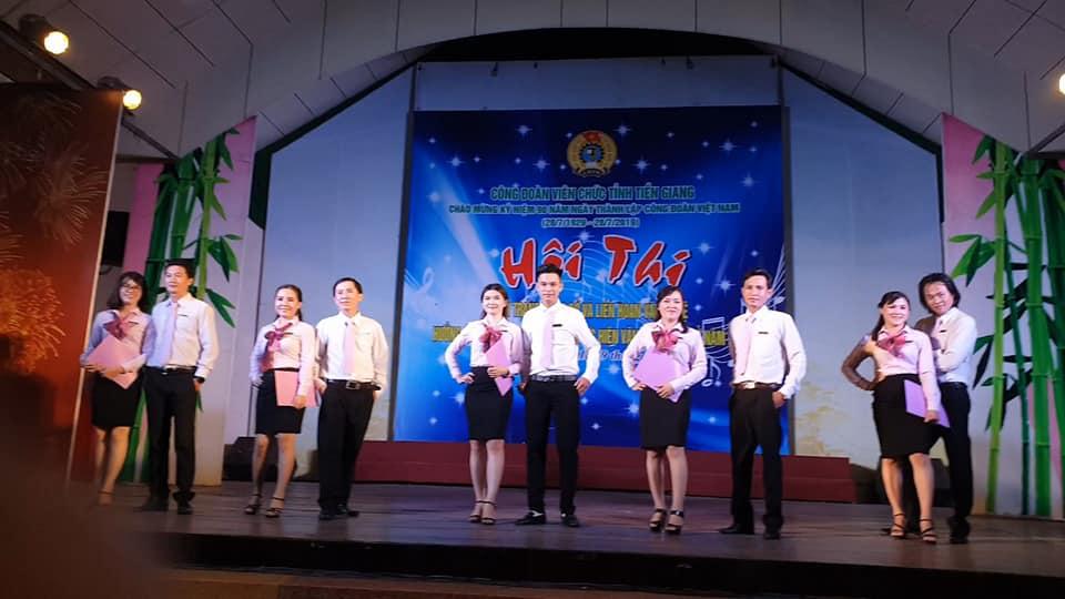 Tham gia Hội thi Thời trang công sở và Liên hoan văn nghệ khối Công đoàn Viên chức tỉnh Tiền Giang năm 2019